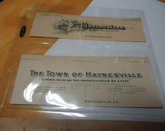 Vintage The Town of Haynesville card in plastic, collectable, Haynesville, Louisiana
