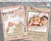 Baby Ashley Baby/Birth Announcement- custom 5x7 photo template for photographers on WHCC and Pro Digital Photos Specs