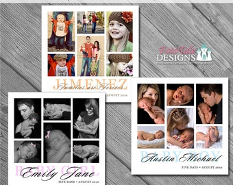 INSTANT DOWNLOAD - Photo Templates- Baby Love Collages - (3) 12x12 custom photo collage/storyboard templates