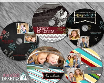 Chalky Christman CD/DVD Label Set - custom photo templates for photographers on WHCC specs