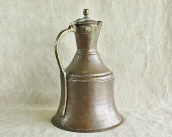 Antique Turkish Hammered Copper Water Pitcher    Sale was 88.00