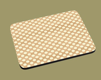 Mouse Pad - Simple Simple Brown Polka Dot print