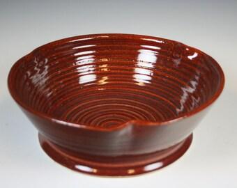Ceramic Bwol, Rust Colored Ceramic Bowl, Serving Bowl, Stoneware Bowl