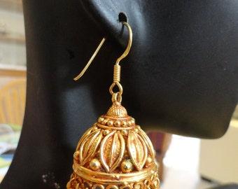 Reserved Jaipur Jhumkas Ornate Three Tier Silver By Jhumkas
