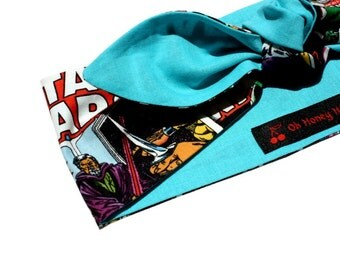 Vintage Inspired Head Scarf, Star Wars, Darth Vader, Luke Skywalker, Comic