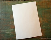 """50 A7 Flat Cards: Recycled Flat Cards, 5 1/8 x 7"""" (130 x 178 mm) or 5x7"""" bright white, natural white or ivory, 80lb./ 218gsm."""