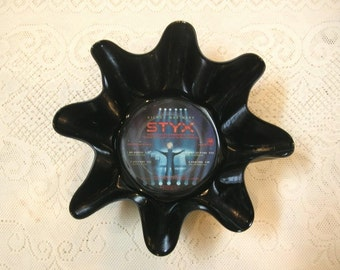 Styx Recycled Record Bowl Made From Vinyl LP Album