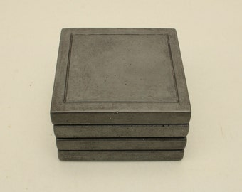 SALE: Concrete Square Coaster - set of 4