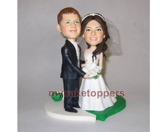 unique wedding Cake topper, cute cake topper, funny cake topper, engagement, occasion, gift idea, bridal shower, look like you, ooak