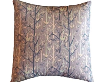 Mid Century Modern Style Brown Bird 14 x 14 inch Pillow Cover