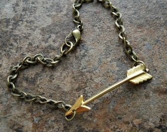 Arrow  Bracelet in Brass