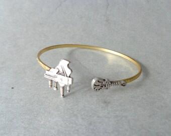piano guitar music bracelet