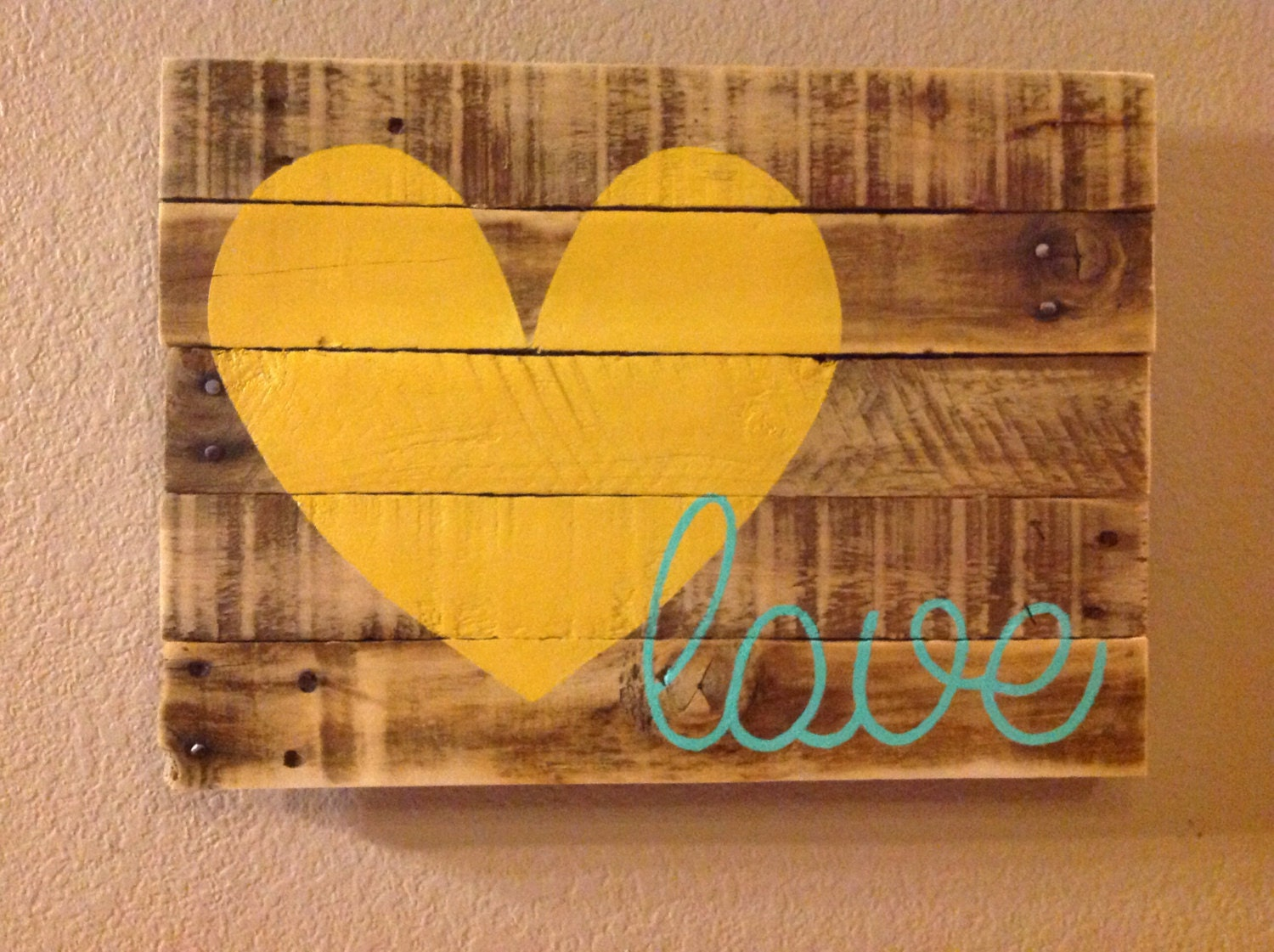Love Pallet Sign by FancifulShenanigans on Etsy