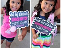 1st and Last Day of School - 1st Grade Printable Signs {2016-2017}