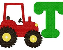 Red Tractor Farm 5x7 Monogram Machine Embroidery Font Design Set INSTANT DOWNLOAD