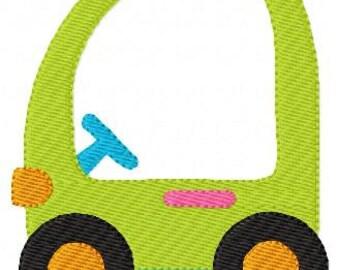 Kiddie Car Machine Embroidery Design // Joyful Stitches