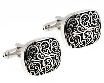 Engraved Vine Design Cufflinks 1200034