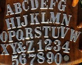 1.5 inch Metal Letters and Numbers- One and one half inches high