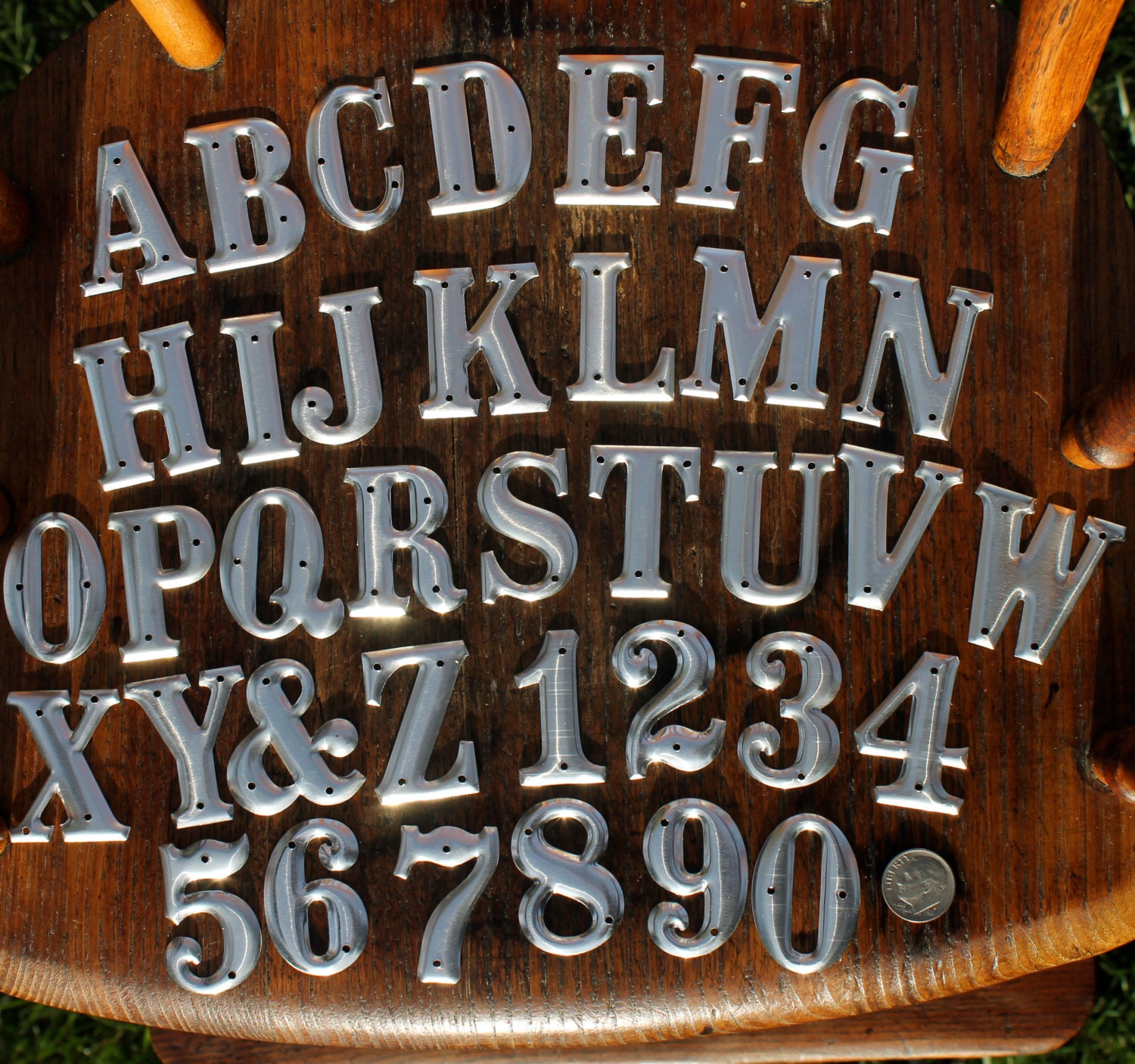 15 inch metal letters and numbers one and one half inches for 1 inch letters