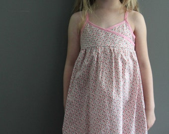 SAMPLE SALE cherry summer maxi dress 2T  LIMITED  pink red