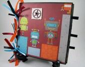 Shiny Robots - 6x6 Paper Bag Mini Album - Just add Photos