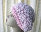 ROSE SNOW hand knit Beanie Hat in German wool blend