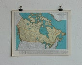 Vintage Map-Canada-Early 20th Century