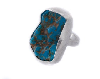 Cloud and Cloudies ring. With a Californian turquoise and sterling silver