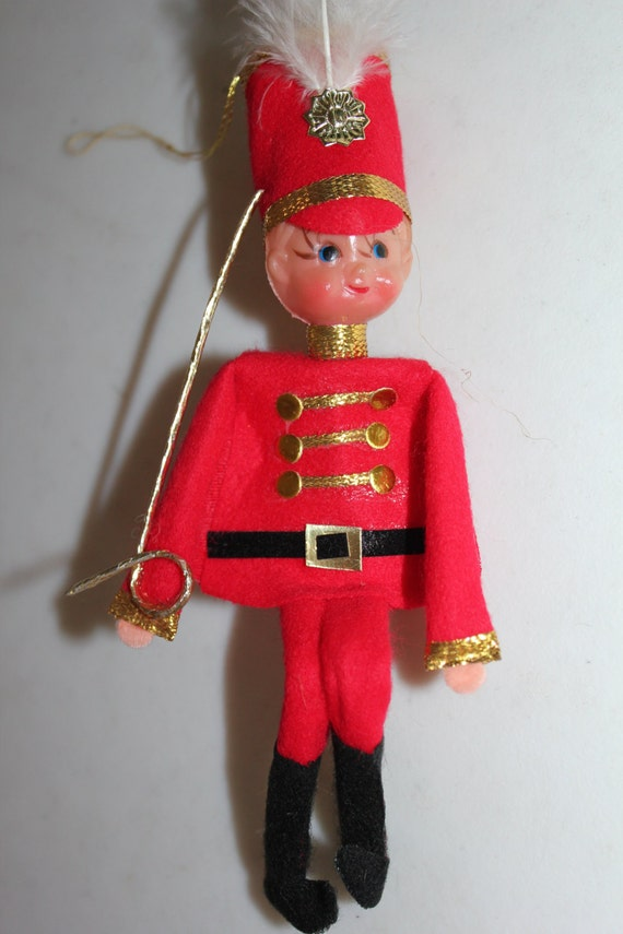1960 Christmas Toys : Vintage toy soldier ornament made in japan christmas