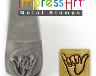 Hang Loose Metal Stamp ImpressArt- 6  mm  Metal Design Stamp-Perfect for Your Hand Stamping Needs-Steel Stamps