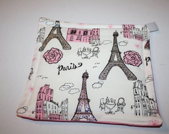 Paris Potholder Set- Potholder Set- Hot Pads- Paris-Paris Kitchen-Kitchen Potholders-Potholder Set-Paris Kitchen Decor-