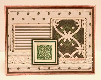 St. Patrick's Day Card - Celtic Knot Handmade Card - Irish Card
