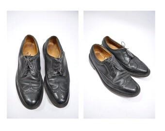 vintage leather wingtips shoes dress shoes wingtip florsheim imperial 10.5 C - 10 1/2 C