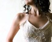 Wedding Crop Top, Wedding Corset, bridal top, hippie top, silk top, halter top, fairy top, LARP, women clothing, party top, festival top