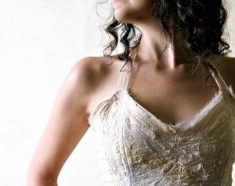 Wedding separates, boho wedding corset, wedding Crop Top, silk top, halter top, fairy top, women clothing, alternative wedding top, boho top
