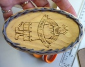 Oval Wicker Christmas Ornament