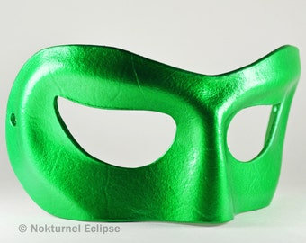 Green Lantern Leather Mask Masquerade Justice League Cosplay Dawn of Justice Superhero Comic Con Halloween - Available In Any Basic Color