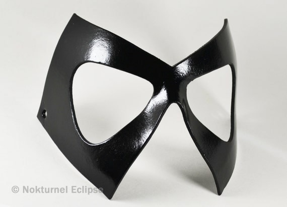 marvel black cat mask template - ms marvel black leather mask diamond shaped superhero cosplay