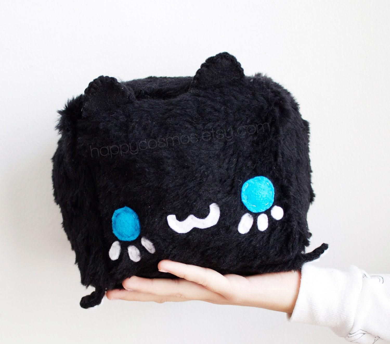 Black Cat Plush Kawaii Plushie Cute Stuffed Animal