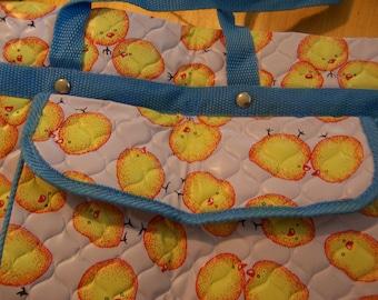 adorable vinyl diaper bag