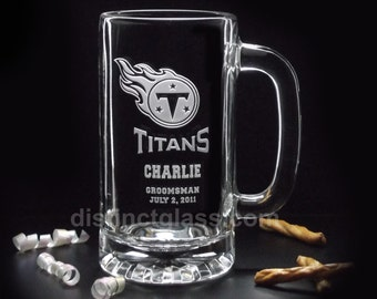 Gifts for Groomsmen - SPORTS WEDDING BEER Mugs Any Team 16oz Personalized Wedding Gifts for Ushers Fathers Best Man Men Etched Glass Canada