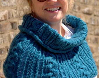 Braided Shoulder Warmer/ Cowl (Knit Pattern PDF) a.k.a. Capra Cowl