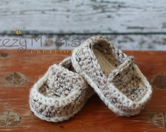Download PDF crochet pattern b001 - Baby Loafers Booties