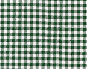 Round Green Gingham Oilcloth Tablecloth