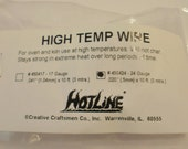 Glass  & Ceramic Fusing 24 Gauge High Temp Wire for Hangers, Flowers and More!