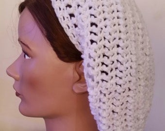 Crocheted Slouchy Hat/Beret/Tam/Hair Covering