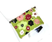 Binder Pencil Case Green Floral Pencil Pouch for 3 Ring Binder Organizer Case School Supplies  Back to School Kids Gift Flowers