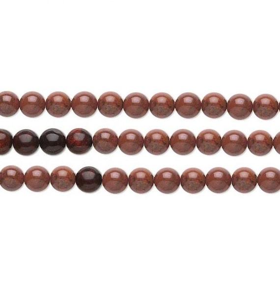Round Brecciated Jasper Beads 8mm 16 Inch Strand