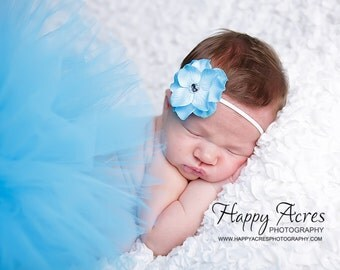 TURQUOISE TUTU Set....baby tutu, newborn tutu, baby photography prop, headband included...newborn-24 month available