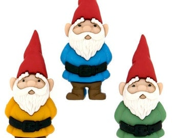 Gnome Buttons 3pc